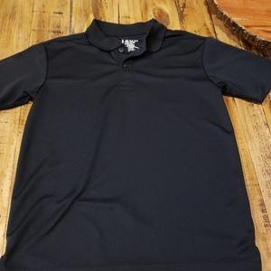 IZOD Boys L/G (14/16) Black Polo Shirt